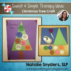 Natalie Snyders, SLP: Sweet and Simple Therapy Idea - Christmas Tree Craft