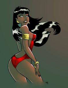 Vampirella by Bruce Timm, coloured by Jasen Smith * ★ || CHARACTER DESIGN REFERENCES (www.facebook.com/CharacterDesignReferences & pinterest.com/characterdesigh) • Love Character Design? Join the Character Design Challenge (link→ www.facebook.com/groups/CharacterDesignChallenge) Share your unique vision of a theme every month, promote your art and make new friends in a community of over 25.000 artists! || ★