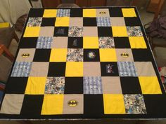 Personalized batman quilt