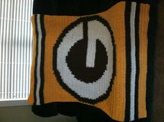 11c5b084e91 Other Pinner  Green Bay Packers Crochet Blanket I designed and crocheted  for a dear friend who is a fan.