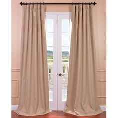 Exclusive Fabrics Ginger Bellino Blackout Curtain Panel (50W x 96L), Brown, Size 50 x 96 (Polyester, Solid)