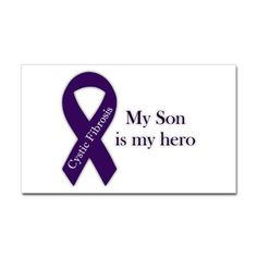 001 Just Breath Cystic Fibrosis or Cancer Ribbon Car Decal