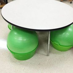 A smart idea for keeping those stability balls from rolling around  Follow on Instagram for more teacher ideas and inspiration