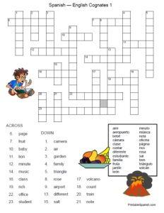 Free Printable Spanish English Cognates Puzzle Worksheet For Kids Teachers Fun Stuff Freebies English Worksheets For Kindergarten Cognates Spanish English Spanish english cognates worksheet