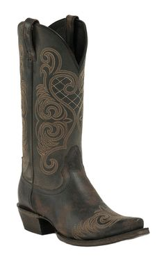 Ariat Rustic Black Bright Lights Snip Toe Western Boot