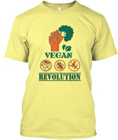 Vegan Revolution Lemon Yellow T-Shirt vegan tshirts, vegan shirt men, vegan shirt protein, vegan shirt women, funny vegan shirt, vegan shirt workout, vegan shirts for women, vegan shirts for women funny, safe, sustainable, toxin-free, vegetarian, cruelty free, vegan shirt protein, vegan tshirt for him, vegan tshirt for her, go green shirt, Enviroment, Vegan Gift, Vegan gift ideas, vegan tshirt America, vegan workout shirt, Vegan power shirt, Best Vegan shirt, vegan weightlifting shirt