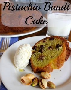 Pistachio Bundt Cake. When you want to make something easy, flavorful, but just a little different!