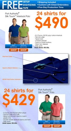 Your Customers are Walking Billboards! This week's #sale #flyers are up. We have great specials on custom tote bags, shopper bags and polo shirts. The promotional bags under $2 are the perfect #advertising vehicle for trade shows, industry events, malls and more. We also have 24 promotional #polo shirts going for $429, which includes left-chest #embroidery, setup and shipping.