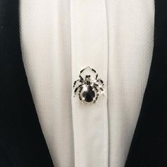 Spider pin - created with Swarovski Crystals. Photo: Andrei Cretu #swarovski #spider #fashion #pin