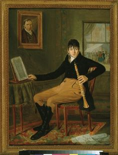 1813 Johannes Reekers - Portrait of a clarinet player (probably Philippe Christiani)