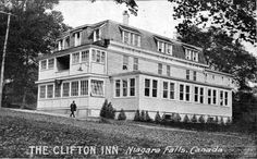 Clifton Inn, Niagara Falls On, Niagara Falls Pictures, Clifton Inn, O Canada, Old Photos, Ontario, Scenery, Mansions, Black And White, History