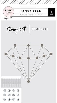 Pink Paislee Fancy Free by Paige Evans String Art Templates, String Art Patterns, Diamond Template, Diamond Theme, Tumblr Room Decor, Denim And Diamonds, Father's Day Diy, Dream Catcher Boho, Camping Crafts