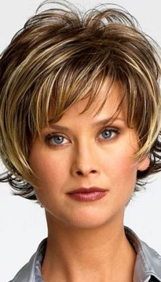 Short Messy Hairstyles Over 50 - Bing Images Curly Hair Styles, Short Hair Styles Easy, Hot Hair Styles, Hair Styles 2014, Medium Hair Styles, Hair Medium, Short Hair Cuts For Women With Bangs, Pixie Styles, Medium Brown
