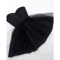 Simple A-line Sweetheart Neck Tulle Short Black Prom Dress, Homecoming... ❤ liked on Polyvore featuring dresses, sweetheart prom dresses, short cocktail dresses, sweetheart neckline prom dress, homecoming dresses and a line cocktail dress