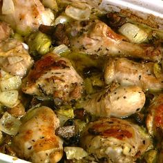 Artichoke Chicken | This recipe won a contest on a television show called The Chew.  Mario Batali and others judged 3 chicken recipes made by regular people, and this won first prize!