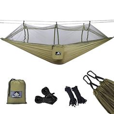 pour Camping 100/% Parachute Nylon De Plein air Voyage Camping Set Plage Voyage Hamac de Double pour Backpacking de 300kg de Capacit/é Jardin Anding Hamac Ultral/éger Portable Camping Hamac