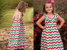 Girls Christmas Dress // Girls Christmas Outfit by AdalynsBoutique Christmas Dresses For Tweens, Matching Christmas Outfits, Casual Holiday Outfits, Toddler Christmas Dress, Girls Maxi Dresses, Girls Christmas Dresses, Toddler Girl Dresses, Little Girl Dresses, Long Dresses