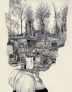 heads, illustration  Designersgotoheaven.com - untitled by Pat Perry on Flickr. ( via throughthewindowicouldseethesun)