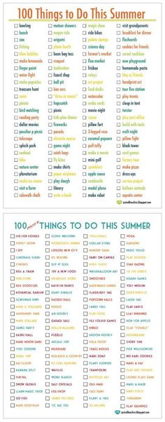 200 Things To Do With Kids On Summer Break