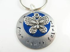 Hand stamped craft fair keychain by jewelryandmorebykat on Etsy