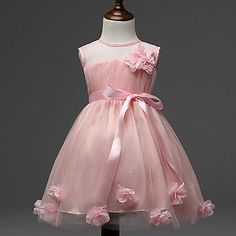 6f9c0d4a54a833   15.95  Girls  Floral Floral Sleeveless Dress. Prinses Tutu JurkenMeisjes  ...