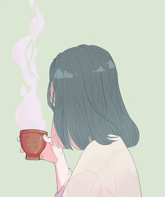 Imagem de art, girl, and tea