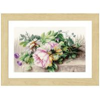 Peonies Bouquet Counted Cross Stitch Kit