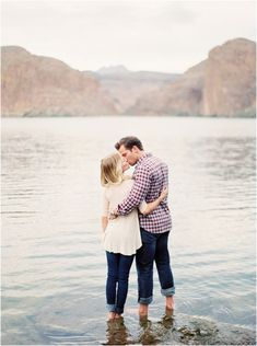 canyon lake engagement photos