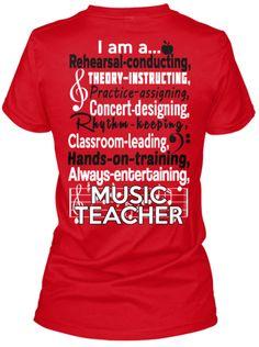 GREAT music teacher tee shirt!                                                                                                                                                                                 More
