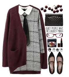 """Boarding School"" by kearalachelle ❤ liked on Polyvore featuring Tabitha Simmons, Marie Turnor, Acne Studios, GlassesUSA, Laura Mercier, Topshop and WardrobeStaple"