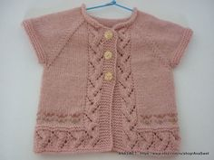 THIS PATTERN IS IN ENGLISH ONLY Baby cardigan has top-down raglan construction and is worked in one piece.Knitting is soft and pleasant to the touch. The cardigan no edges! Size: Materials: About 75 gr baby wool wool, acrylic, Circular needles US 4 Baby Knitting Patterns, Love Knitting, Knitting For Kids, Baby Patterns, Pdf Patterns, Knitted Baby Cardigan, Knitted Baby Clothes, Pink Cardigan, Baby Girl Cardigans