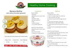Banana Muffins with white chocolate ganache > Brancourts