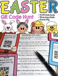 Is the Easter Bunny a hare or a rabbit? How many million Peeps are sold each year during Easter? What part of the chocolate Easter Bunny should you eat first? Your students will enjoy knowing the answers to these and many more interesting questions with this 32 QR Code Hunt Fun Facts pack on Easter. https://www.teacherspayteachers.com/Product/EASTER-QR-CODE-HUNT-2444578