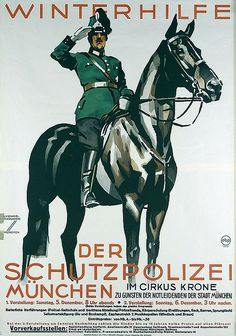 Buy online, view images and see past prices for Poster by Ludwig Hohlwein - Winterhilfe der Schutzpolizei. Ww2 Propaganda Posters, Art Deco Paintings, Horse Posters, Vintage Horse, Ludwig, Ad Art, Native American History, Equine Art, Vintage Travel Posters