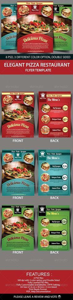 Elegant Pizza Restaurant Flyer Template