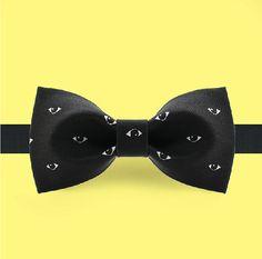 Black bowtie Fashion bow tie  Black eye by GentlemansDignity