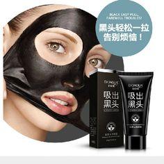 BIOAQUA Brand Face Care Suction Black Mask Facial Mask Nose Blackhead Remover Peeling Peel Off Black Head Acne Treatments 60g