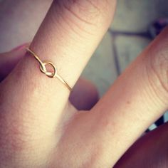 Gold Infinity Knot Ring. $14.00, via Etsy.