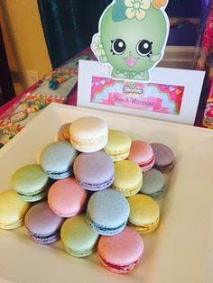 French Macarons for my daughter's Shopkins Party!!