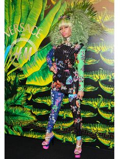 Nicky Minaj at the Versace for H event.