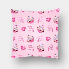Cupcake Love Cushion Covers | Artist : Madhumita Mukherjee | PosterGully