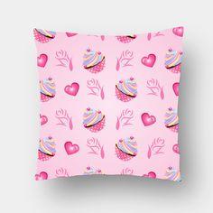 Cupcake Love Cushion Covers | Artist : Madhumita Mukherjee | PosterGully