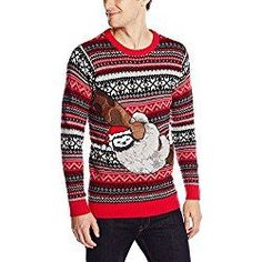 Blizzard Bay Boys Ugly Christmas Crew Neck Sweater with Gnome on Front