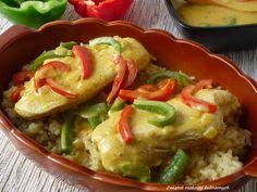 Pierś z kurczaka w sosie curry.