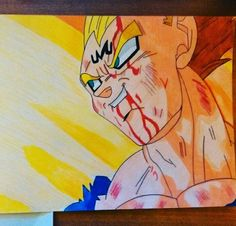 Vegeta's sacrifice - dragon ball Z -  drawing