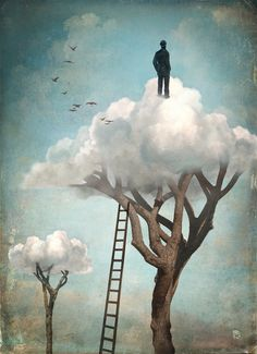 "SUPRANUBILAR [adjective] above the clouds; beyond the clouds. Etymology: from Latin supra, ""above"" + nubes, ""cloud"". [Christian Schloe - The Great Escape"