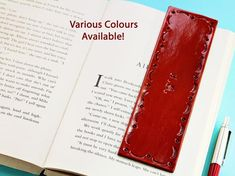 Click To Shop Now - Handmade Personalised Name Leather Bookmark, Hand Stamped Leather Book Mark. #personalised #name #initials #leather #bookmark #handstamped Leather Bookmarks, Leather Keyring, Leather Gifts, Leather Craft, Leather Anniversary Gift, Anniversary Gifts For Husband, Personalised Keyrings, Personalized Gifts, Alphabet Capital Letters