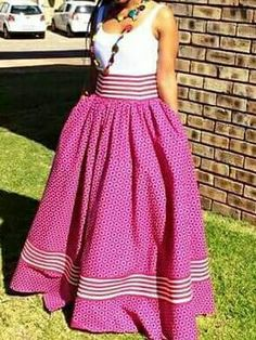 Shweshwe skirt/african print skirt/african by TMFashionaccessories South African Dresses, South African Traditional Dresses, Latest African Fashion Dresses, African Attire, African Wear, Pedi Traditional Attire, Traditional Fashion, Traditional Outfits, Traditional Wedding
