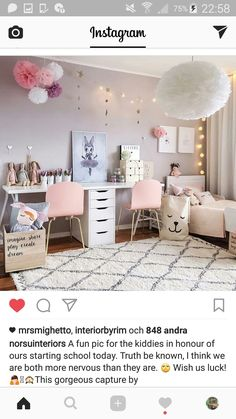 10 Girls Bedroom Paint Ideas, Girl Bedroom Ideas 4 Year Old Want to try this idea soon? Teenage Bedroom Ideas Ikea, Ikea Girls Room, Girls Bedroom Furniture, Bedroom Themes, Kids Bedroom Ideas For Girls Toddler, Bedroom Decor, Bedroom Images, Toddler Girls, 4 Year Old Girl Bedroom