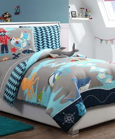 Another great find on #zulily! Turquoise Ahoy Comforter Set #zulilyfinds